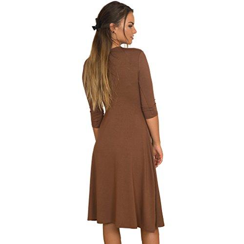 JuicyPeach Maternity - Robe spécial grossesse - Trapèze - Femme Marron