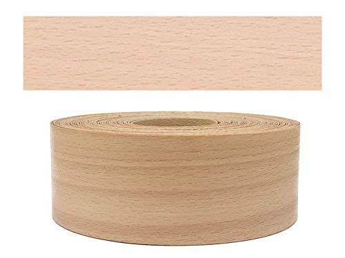 Mprofi MT® (5m Rotolo) Bordi in vero legno per i bordi dei mobili con colla Faggio 60 mm