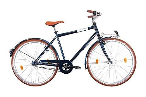 Leader Urbano Classic Premium 28 Zoll Urbanbike Dunkelblau (2016), 60