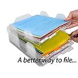 Reuvv Feile Aufbewahrungsschachtel Dokument Rack Schreibtisch Organizer Ablage Stapelbar Dokument Aufbewahrung Rack für Zeitschriften Papier für Heim Büro Verwendung - 8pcs