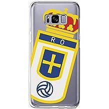 Real Oviedo Carcasa Oficial Escudo Sobre Transparente Samsung Galaxy S8
