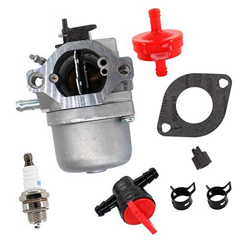 AISEN Carburatore con guarnizione candela di accensione rubinetto benzina per Briggs & Stratton motore Walbro LMT 5-4993