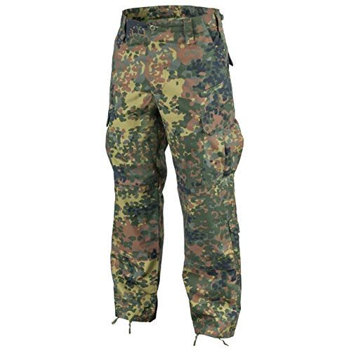 Combat Uniform Hose (Helikon-Tex CPU Hose Pants Flecktarn Ripstop Bundeswehr Combat Patrol Uniform Large Long)
