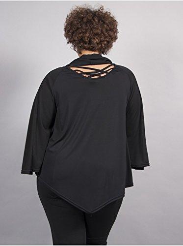 Vêtement Femme Grande Taille Tunique papillon noir courte Noir