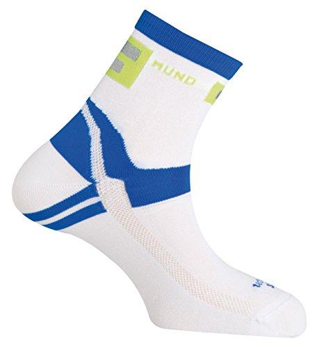 MUND Cycling réfléchissante 337/Running Chaussettes pour Femme Blanc/Bleu Taille S 34-37 ()