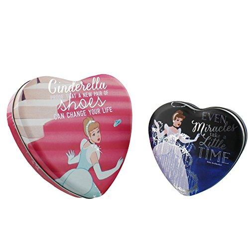 Disney Princess Herz Geformte Boxen Set von 2Cinderella (Disney Princess Möbel-set)
