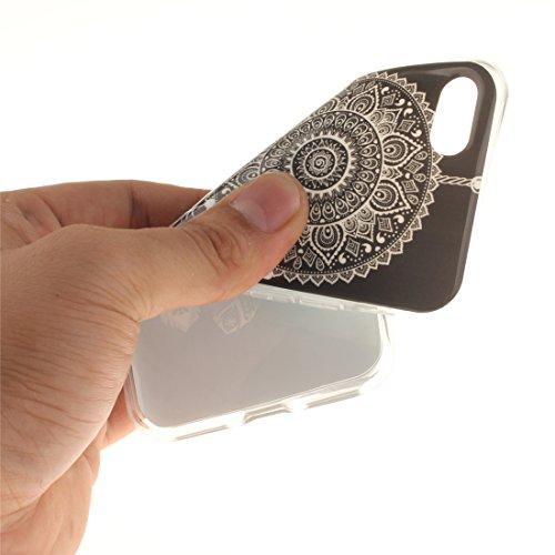 Nancen Apple iPhone 7 / 8 (4,7 Zoll) Hülle, Ultra Dünn Spezielle Weiche TPU Full Silikon Cover Case Handyhülle Schutzhülle Tasche [Grüne Augen Tiger] Campanula
