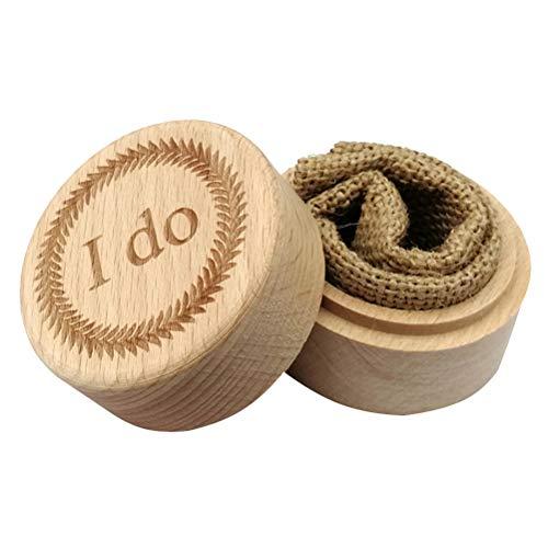 Amosfun Holz-Ehering Box Ringhalter für Verlobungsringe (I Do)