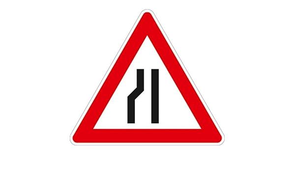 Verengung links 900 ORIGINAL Verkehrszeichen 121-20 Einseitig verengte Fahrbahn