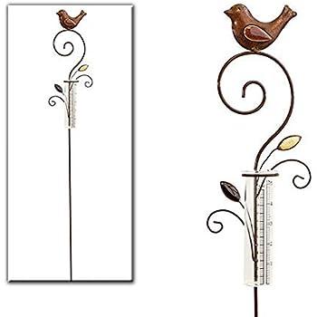 Regenmesser metall gartenstecker gartendeko rostoptik for Gartendeko rostoptik