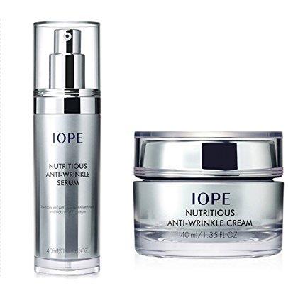 iope-nutritious-anti-wrinkle-serum-cream-set