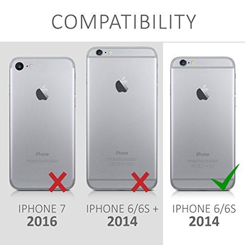 kwmobile ÉTUI EN TPU silicone pour Apple iPhone 6 / 6S Design aluminium brossé anthracite transparent. Étui design très stylé en TPU souple de qualité supérieure dégradé de couleurs métalliques anthracite or rose