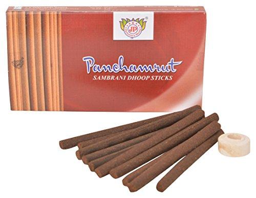 J P Perfumery Works Panchamrut Sambrani Dhoop Sticks - Pack 12