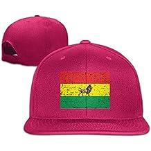 Liumiang Sombreros Gorras de béisbol,Breathable Jamaica Rasta Lion Mens Buckle Strap Hip Hop Cap