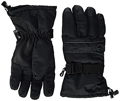 Terra Hiker Waterproof Winter Ski Gloves Warmest Thinsulate Mittens for cycling Driving (Black, L)