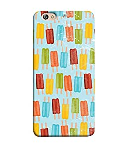 PrintVisa Designer Back Case Cover for Gionee Elife S7 (Colourful Ice Cream Gola With Two Stick Blur Red)