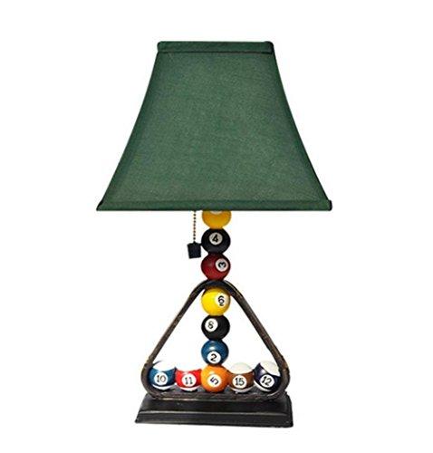 Atmko®Lámparas de escritorio Lámpara de escritorio retro E27 lámpara de cabecera Billares creativos que modelan la lámpara de tabla de la resina para la lectura del estudio del dormitorio con el interruptor de la línea del tirón
