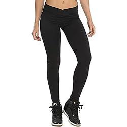 Pantalones Mujer Deportivos Mallas Deportivas Mujer Leggings Yoga Pantalon Elastico Cintura Altura Polainas para Running Pilates Fitness Amlaiworld (Negro, S)