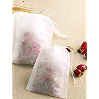 50Pcs/Lot Teabags 5.5 x 7CM Empty Scented Tea Bags With String Heal Seal Filter Paper for Herb