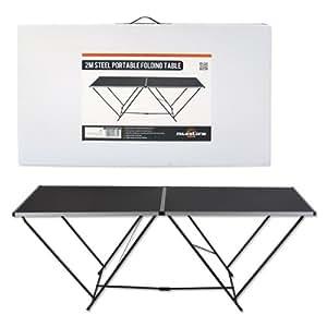 Table pliante MilestoneCamping - Noire, 2m