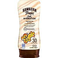 Hawaiian Tropic Silk Hydration Protective - Loción Solar Protectora con índice SPF 30 con cintas de seda hidratantes y resistente al agua, formato 180 ml