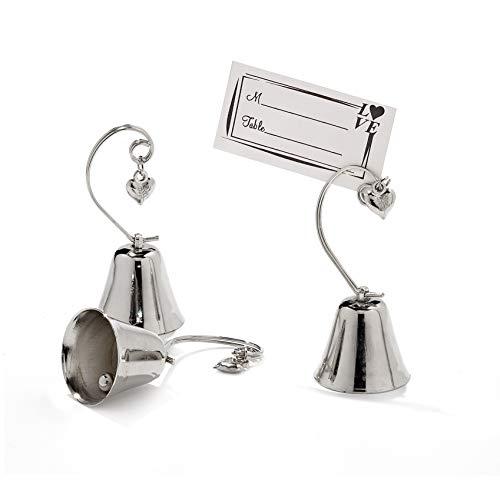 10pz segnaposto campanelle tirabacio acciaio segnatavolo matrimonio anima con cuore incluso il biglietto