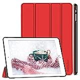 EasyAcc Hülle für iPad Air, Ultra Slim Hülle Case Schutzhülle PU Lederhülle mit Standfunktion/Auto Sleep Wake Up Funktion Kompatibel für iPad Air 2013 (Modellnummer A1474 A1475 A1476) - Rot