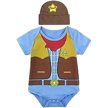 Mombebe Bebé Niños Piloto Disfraz Bodies con Sombrero