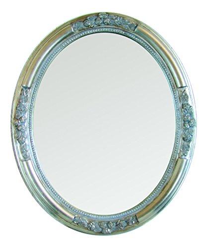 My Flair Ovaler Spiegel Beyzawi I, Barock, Holz, Silber, 47x3x57