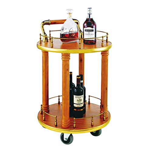 Chariot de Rangement pour Service à 2 Niveaux, vin thé café Boissons étagère à roulettes pour Organiseur, pour Les lieux Haut de Gamme Bar Home Kitchen Dining Salle de Bain (2 Styles)