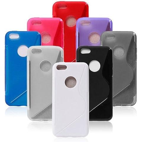 Cubierta de la caja S Line agujero redondo Diseño de TPU suave para el iPhone 5C.