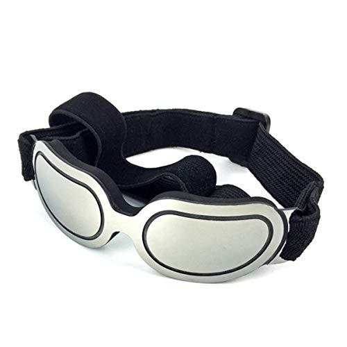 PETCUTE Hund Brille Sonnenbrille wasserdichte leichte UV-Schutz Sonnenbrille für kleine mittlere Hund oder Katze Silber