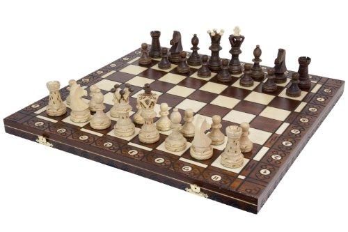 Grosses Schachspiel EL GRANDE 54cm x 54cm KH110mm (Antike Französische Grand)
