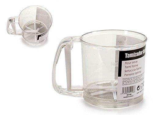 Dream Hogar Tamizador de harina dispensador harina con asa y gatillo 250g plastico