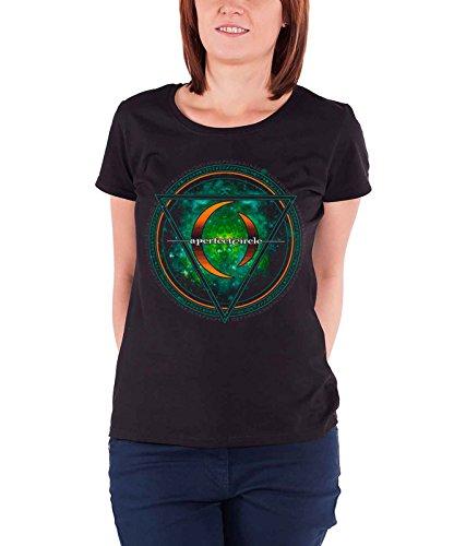 A Perfect Circle T Shirt Band Logo Sigil Nue Offiziell Damen Skinny Fit (Skinny-band-t-shirts)
