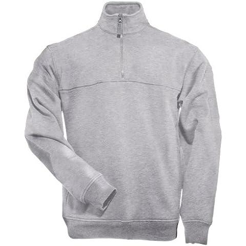 5.11 Uomo 1/4 Zip Job Camicia Heather Grey taglia