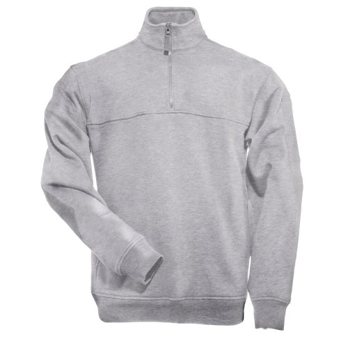 5.11 Tactical Job Sweat-Shirt 1/4 Zip Homme, Heather Grey, FR : M (Taille Fabricant : M)