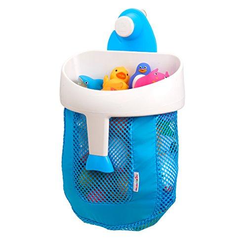 Munchkin - Super Scoop Badespielzeugsammler und Aufbewahrungsnetz, blau (Bad Spielzeug Organizer)