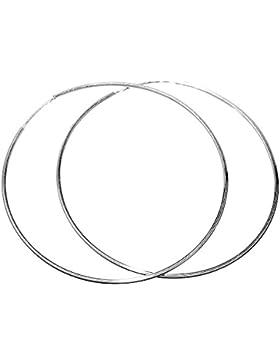 Creolen 60 mm groß Sterling Silber 925 rhodiniert