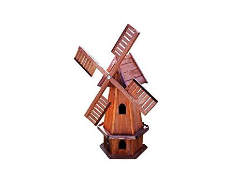 Moulin à Vent Bois Jardin Décoration 6 Faces 100cm