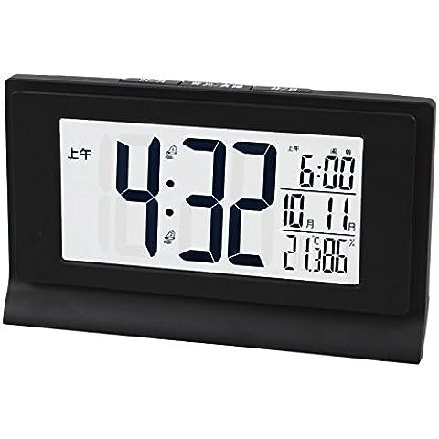 LXh.Cn Set multipli di allarme notte Smart Pass i figli di studenti e di elegante orologio al quarzo giorno orologi continentale,il classico nero