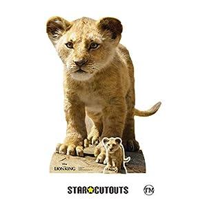 Star Cutouts SC1396 Simba (cachorro de bebé) Live ive Action - Recorte de cartón oficial perfecto para fiestas del Rey León, fanáticos, coleccionistas y eventos, multicolor