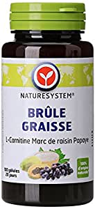 Naturesystem Brûle-graisse L-carnitine, Marc de Raisin, Papaye 34 g