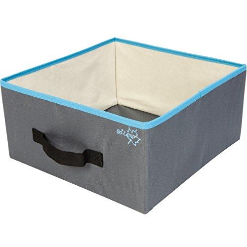 2 praktische, klappbare Schubladen, 33 x 32,5 x 15,8 cm: Organizer Stoff Box Schublade Faltbar Ordnung Faltbox mit Griff (2 Hängen Schublade)
