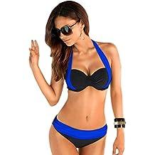 Trajes de Baño Bañadores Mujer Bikinis Push Up Bonitos Traje de Baño dos Piezas para Señoras Braga Bikini Ropa de Baño Playa Mujeres Vestidos de Baño de Natacion Deportivo para Dama