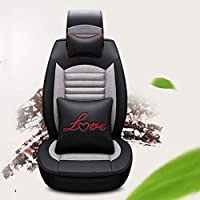 FENGWUTANG Set Coprisedili Auto,Set Completo Protezione per Sedile Universale Pelle 5 posti per Sedile per la Maggior Parte delle Auto SUV Van Coprisedili e accessori comfort Accessori per auto