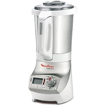 Moulinex LM9031 Standmixer Koch-Mix-Automat Soup & Co / 1100 Watt / 1,8 Liter / Edelstahlbehälter / weiß