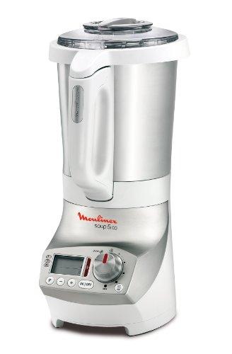 Moulinex Soup & Co Batidora de vaso 1.8L 1100W Plata, Color blanco - Licuadora (1,8 L, Batidora de vaso, Plata, Blanco, Metal, Acero inoxidable, 1100 W)