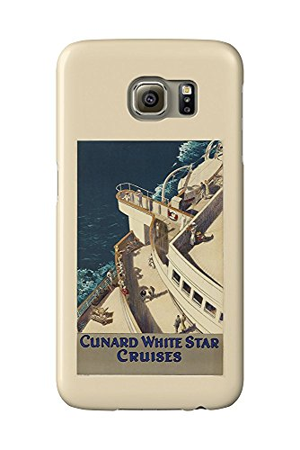 Cunard White Star Vintage Poster (artist: Jarvis) c. 1935 (Galaxy S6 Cell Phone Case, Slim Barely There) -