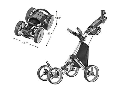 Caddytek Explorer V8-Superlite 4Roues Chariot de Golf, Explorer Version 8, Explorer Vsersion 8...